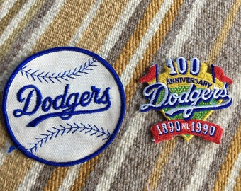Vintage MLB baseball Los Angeles Dodgers patches