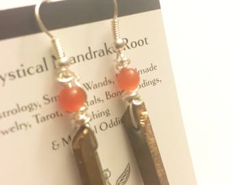 Sale! Golden Goddess Quartz earrings