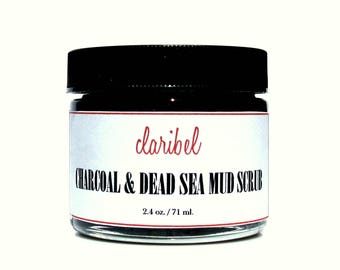 Detoxifying Charcoal & Dead Sea Mud Facial Scrub | All Natural