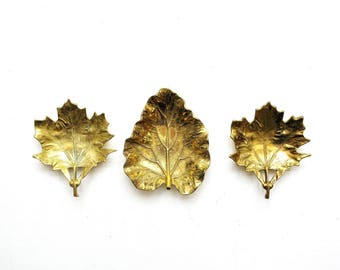 Virginia Metalcrafters Brass Maple Leaf Dish