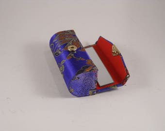 Lipstick Holder Blue Asian Red Gold
