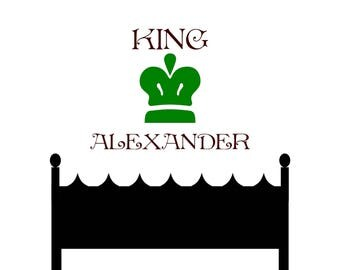 King Room Decal for kids room