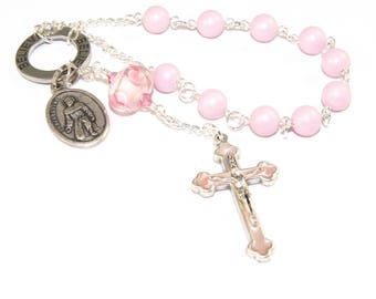 Saint Peregrine Pocket Rosary - Believe, Patron Saint of Cancer Patients