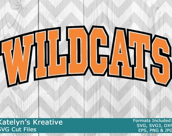Wildcats Arched SVG Files