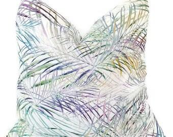 Tropical Pillow - Linen Pillows - Modern Pillow Cover - Designer Pillow - Decorative Pillow - Euro Shams - Accent Pillow - PILLOW COVER ONLY