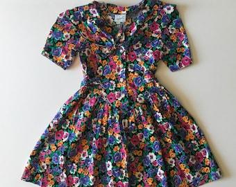 1980's Floral Party Dress (8)