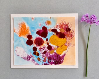 Small abstract painting, original art, contemporary painting,