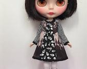 Rosiee Gelutie Inlay Dress in vintage fabric with Long Sleeves