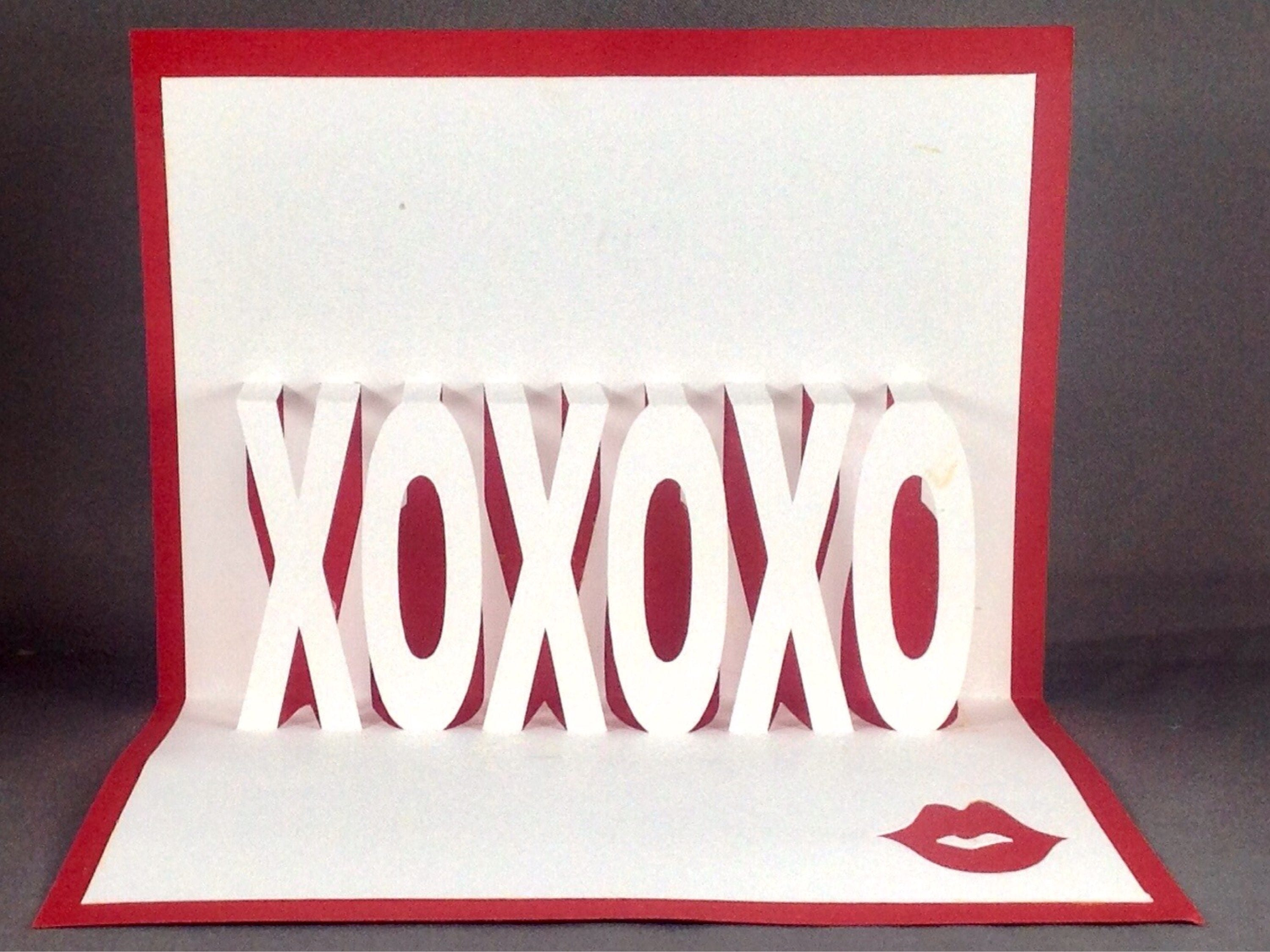 pop up card with xoxo funny valentine card her valentine day card for her funny love card for her i love you card for wife love note