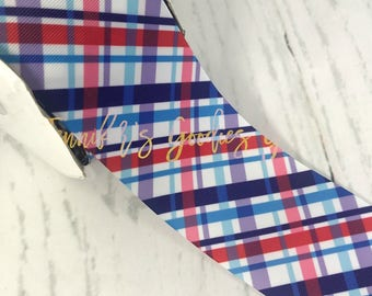 "3"", Patriotic Ribbon, Plaid Ribbon, July 4th Ribbon, Holiday Ribbon, Ribbon for Cheer Bows, DIY Cheer Bows, Wholesale Ribbon, PER YARD"