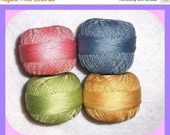 Tatting Crochet Cotton Thread yarn Vintage  Coats & Clark 4 Colors Size  70