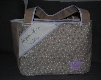 Fabric stiffened, large tote bag pattern for small business of Soline, to order