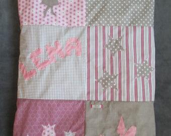 """The Lena fairy Garden"" theme baby blanket"