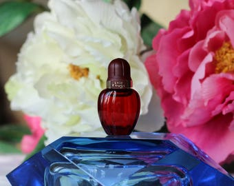 "Vintage 1990s EDT ""Soie Rouge"" by AVON 5 ml Splash Full Mini Travel size Bottle Collectible"