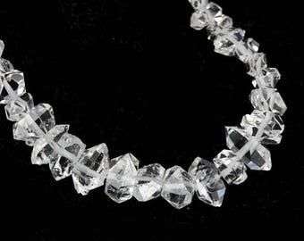 SUMMER SALE Herkimer Diamond Crystal Beads 4 Double Terminated Herkimer Diamond Crystal Clear Semi Precious Gemstones