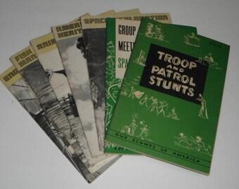8 Boy Scouts of  America Books including Merit Badge Series Animal Science Genealogy American Heritage Engineering Space Exploration