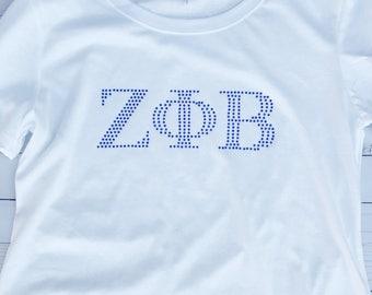 Zeta Phi Beta Rhinestone Shirt