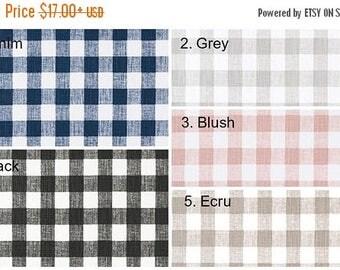 SPRING FORWARD SALE New Plaid Pillow Cover Navy Black Blush Ecru Grey Denim Slub Checked Pillow Covers Choose Size