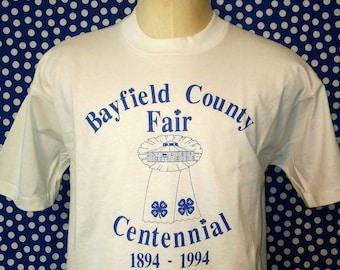 1994 Bayfield County Fair Centennial t-shirt, XL