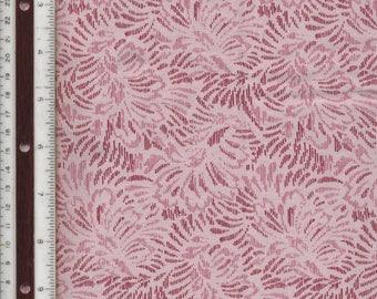 """Wine Stylized Fern - 35-1/2"""" L X 44"""" W - 100% Cotton Fabric"""