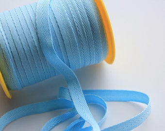 """3/8"""" Polyester Twill Tape - Light Blue - 5 yards"""