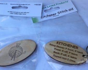 Kitchener stitch aid