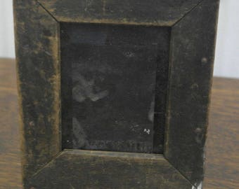 RESERVED antique wood photographic plate picture frame