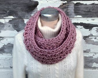 Chunky Rose Infinity Scarf