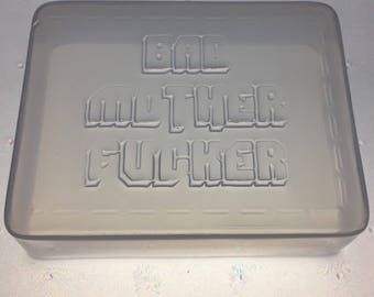 "Bad Mother Fu%@er Wallet Flexible Soap or Bath Bomb Mold 3.25"" x 2.5"" x 1"" Deep"