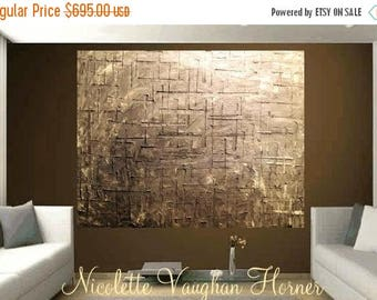 """SALE ABSTRACT 48""""x48""""x 1.5""""deep Modern abstract art,Original comtemporary Grays,silver,lots of texture ready to hang  by Nicolette Vaughan H"""