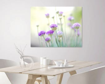 Pale Purple Print | Dreamy Flower Photography Prints | Botanical Prints | Purple + Green Flowers | Large Flower Prints for Wall Art Decor