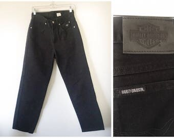 Black Harley Davidson Highwaisted Jeans Size 30 x 30 traditional fit
