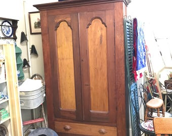 Farmhouse Armoire w shelves - Great storage or display SALE PRICE - REDUCED
