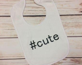 Cute Baby Bib, Funny Bib, Baby Gift, Terry Cloth Bib, Stylish, Unique, Newborn