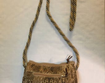 Cross body snake print purse