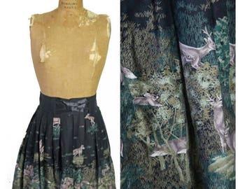 ON SALE 1960s Novelty Print Austrian Skirt