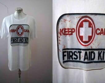 Keep Calm First Aid Kit T Shirt Small - Only one size available