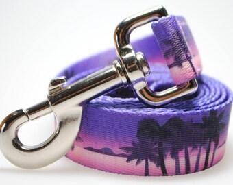 "California Dreaming - Purple 1"" Width  Leash"