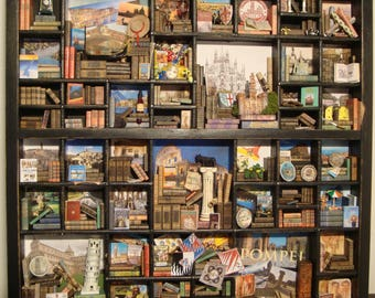 """OOAK Miniature, Library thematic    """"I love Italy """""""