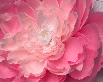Ombre Crepe Paper Peony