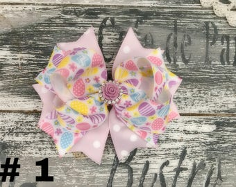 Easter bow, egg bow, spring bow for Easter Baskets