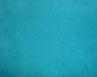 "Suede Leather CLOSEOUT shade 8""x10"" Turquoise Blue SUEDE both sides Cowhide #290p 3 oz / 1.4 mm PeggySueAlso™"