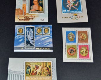 Hungary 5 Huge mint stamps 1968