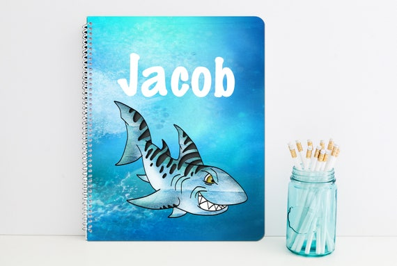 Shark Personalized Spiral Notebook