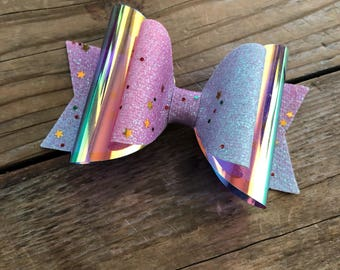 Glitter Rainbow Bow Girls Unicorn Rainbow Headband Baby Girls Headbands Newborn Headbands Photography Props Girls Pigtail Sets Baby Bows