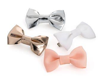Pastel And Metallic 4 Piece Mini Bow Set