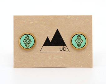 Shadow Weaver - Brass Studs with Wood Inlay
