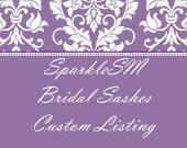 SparkleSM Bridal Custom Listing for Loren