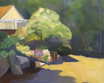 Plein Air Landscape Oil Painting on Canvas