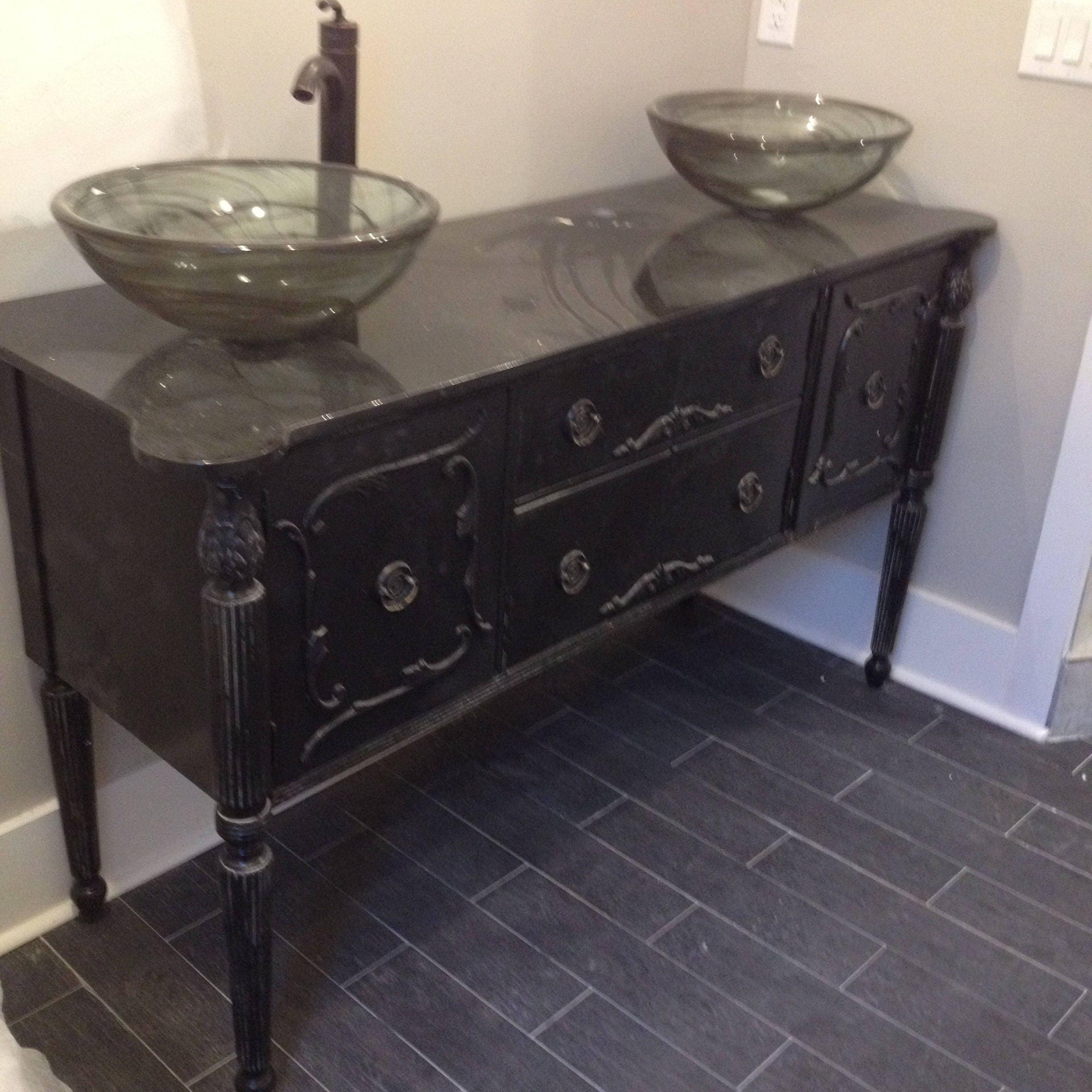 Bathroom Vanity Double Or Single Sink We Custom Convert From Antique Furniture For You